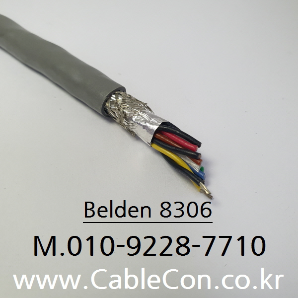 BELDEN  8306  6Pr x 22(7x30)AWG 벨덴, EIA RS-232, UL AWM 2464, CMG, FT4