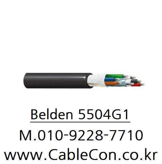 BELDEN 5504G1 1Pr x 22(7x30)AWG+4Cx22(7X30)AWG 벨덴, Security & Sound Cable
